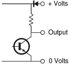 NPN or current sink encoder connection